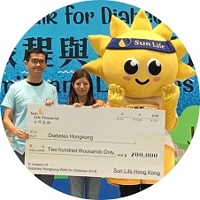 Sun Life has been sponsoring the Diabetes Awareness Program through the Asia Diabetes Foundation (ADF) since 2014.
